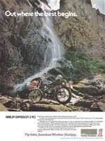 Harley-Davidson Z-90 Motorcycle 1974 Ad Picture