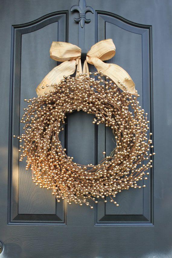 Door Wreath  Berry wreath  Spring Wreath  Wedding by OurSentiments, $69.00