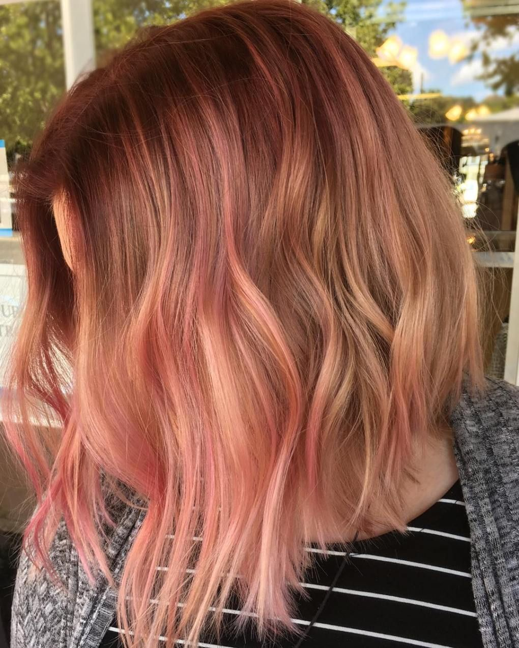 20 Gorgeous Examples Of Rose Gold Balayage Hair Hair Balayage