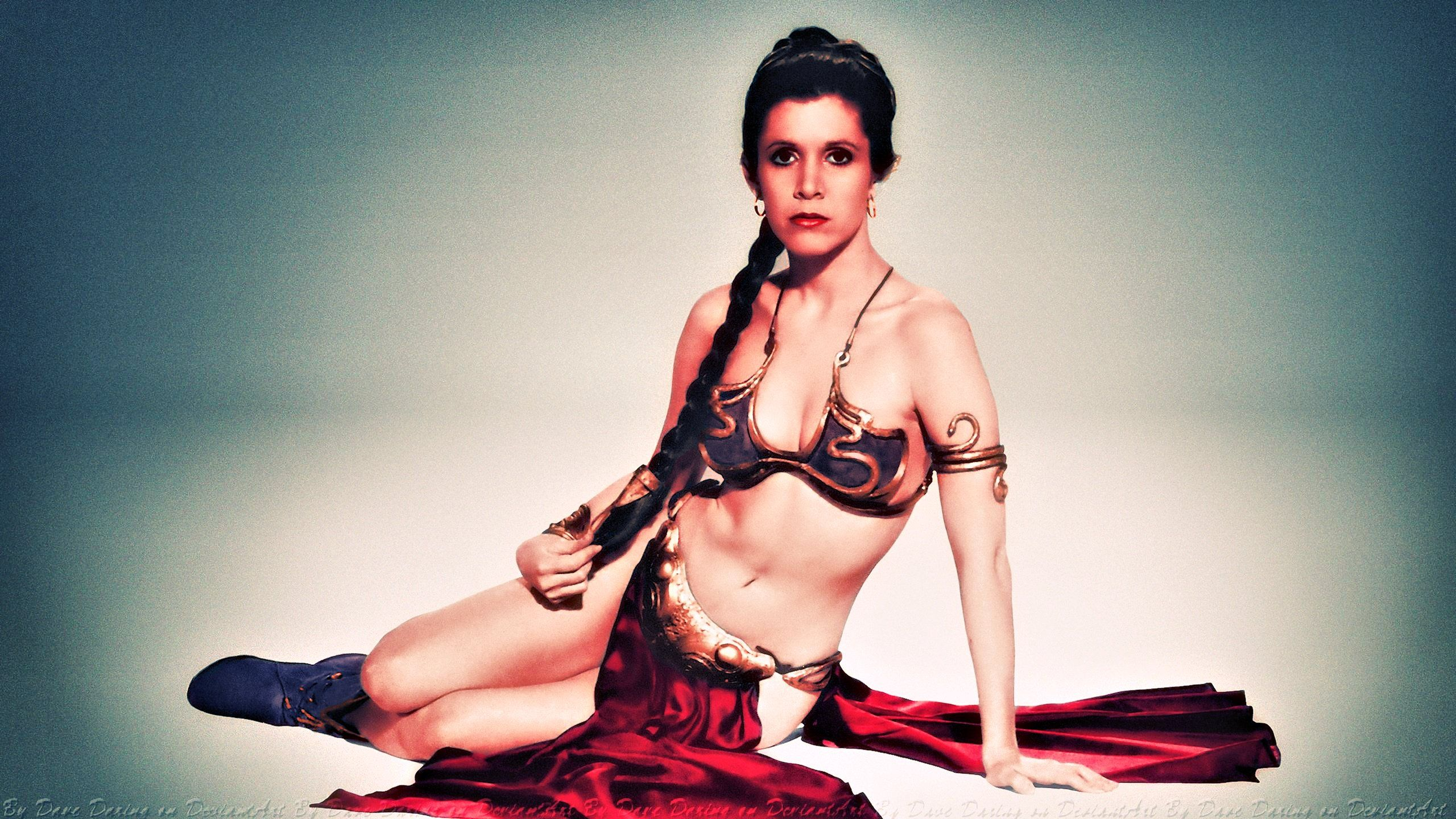 Carrie fisher princess leia slave