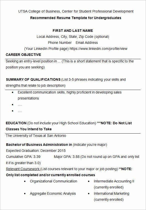 Sample Resume College Student Inspirational 24 Best Student Sample Resume Templates College Resume Template College Application Resume Sample Resume Templates