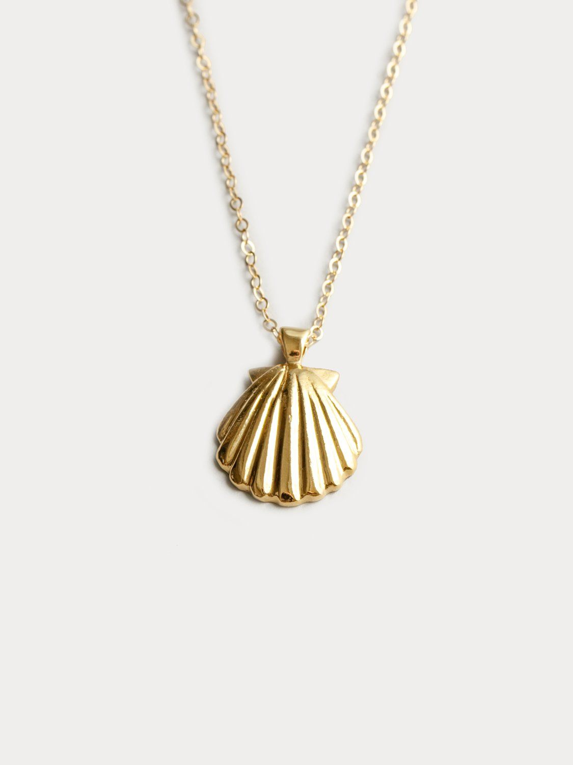 Jewels Obsession Conch Shell Necklace 14K Rose Gold-plated 925 Silver Conch Shell Pendant with 18 Necklace