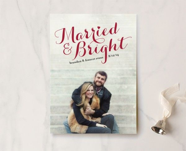 Minted Christmas Cards.Adorable Newlywed Holiday Cards From Minted Invitations
