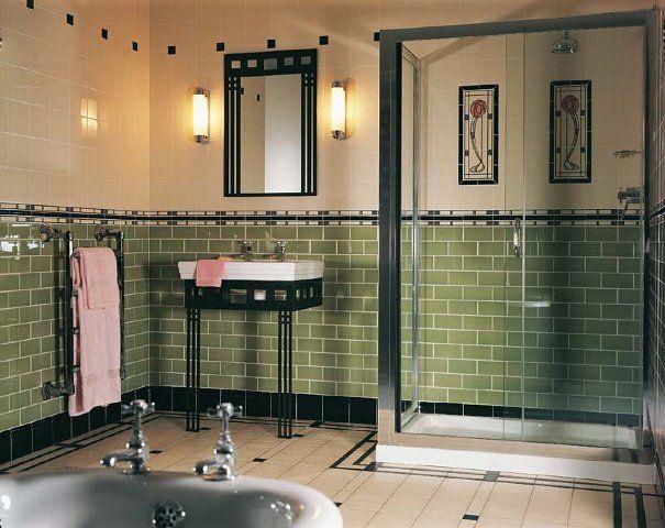 Jugendstil Art Deco Badezimmer Jugendstil Vintage Badezimmer Viktorianisches Badezimmer