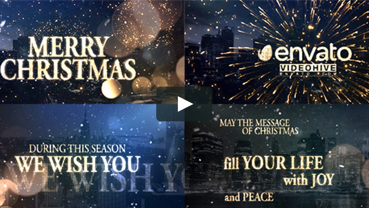 motiongraphic aftereffects card, celebration, christmas
