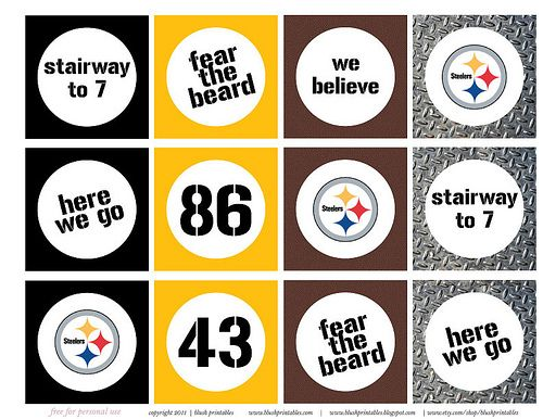 Printables pittsburgh steelers candy bar wrappers pennants cupcake steelers party printables think i might make steelers cupcakes print some of these out laminate them use them for toppers maybe even attatch them to filmwisefo Gallery