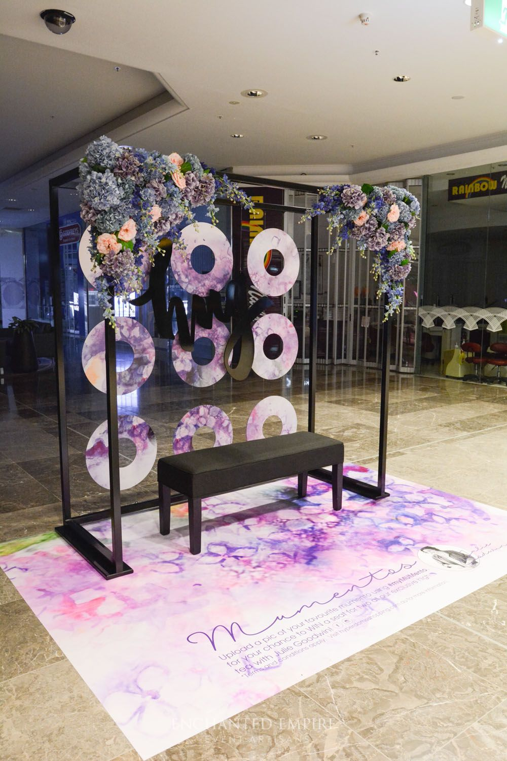 Day wedding stage decoration  Visual Merchandising Motherus Day Campaign  Collection  concept