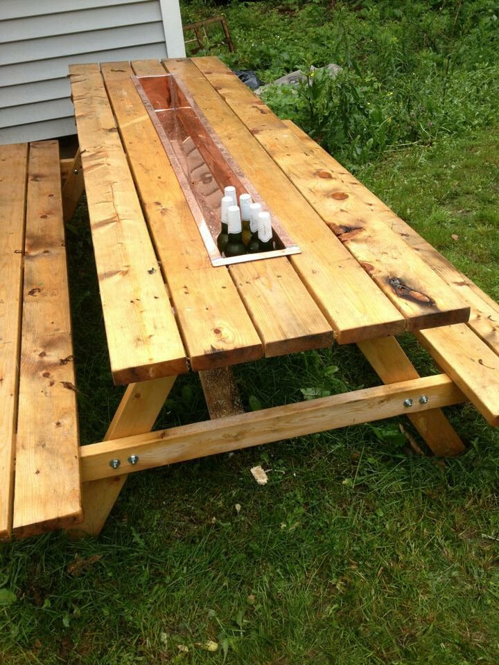 Picnic table cooler project my projects pinterest picnic picnic table cooler project watchthetrailerfo