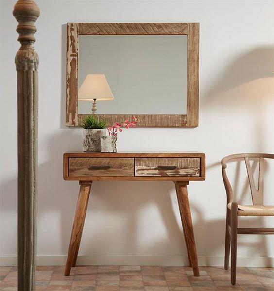 Consola 2 cajones peque a altair mueble rustico industrial - Mueble recibidor rustico ...