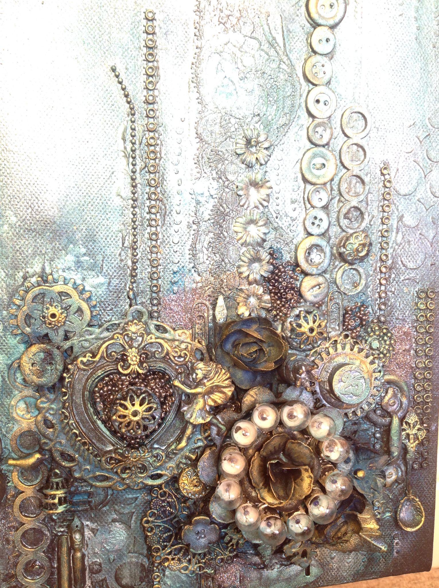 1000 ideas about mixed media canvas on pinterest for Mixed media canvas art ideas