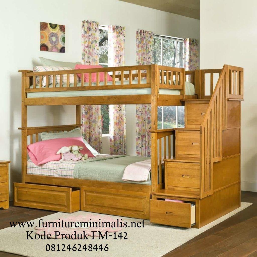 Jual Tempat Tidur Anak Kembar Tingkat Modern Model Tempat Tidur