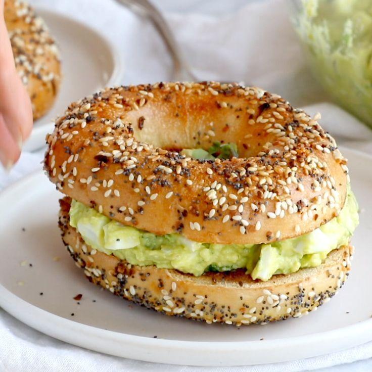 Avocado Egg Salad - no mayo here! just avocados, eggs, herbs, lemon juice, and s... -