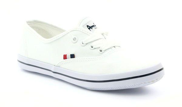 American Club Tenisowki Trampki Wiazane American 16 70 Biale American Sneakers Keds