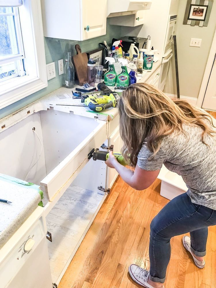 How To Install A Farmhouse Drop In Sink Diy Diy Drop