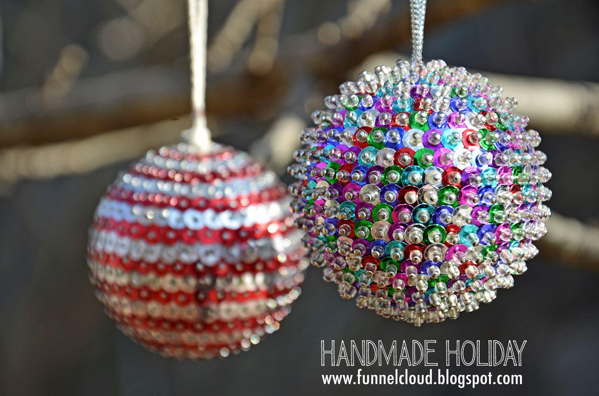 Handmade Holiday Sequin Balls Handmade Christmas Ornaments Handmade Christmas Handmade Holiday