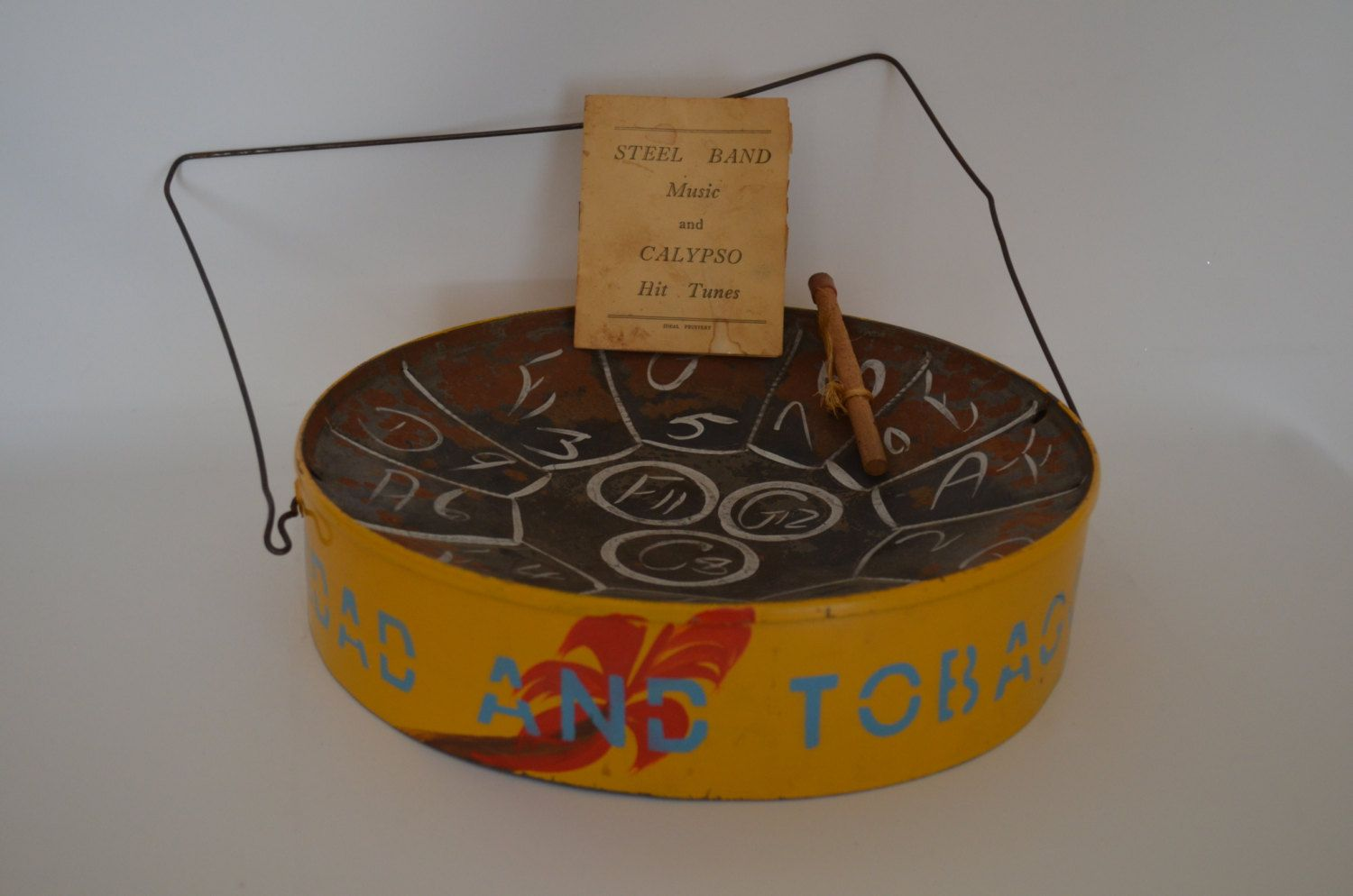 Calypso Drum Made in Trinadad and Tobago - Vintage