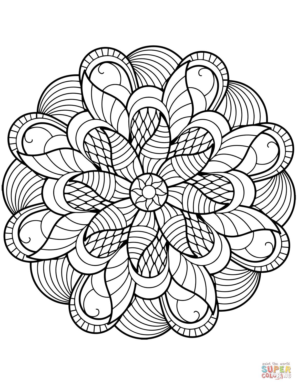 Blomster Mandala Tegninger Maleboger Mandala Mandala Maleboger For Voksne