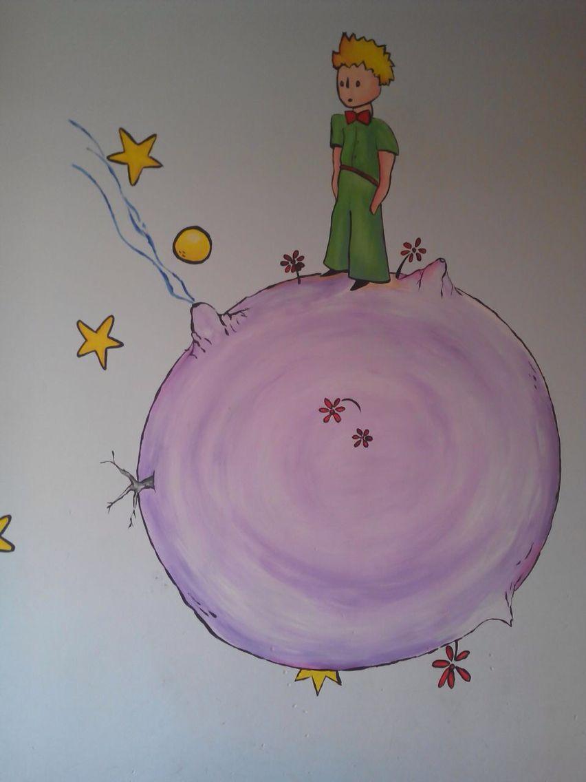 El principito pintura mural de habitaci n murales for Vinilos del principito