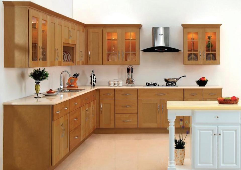 Tủ bếp đẹp gỗ xoan đào