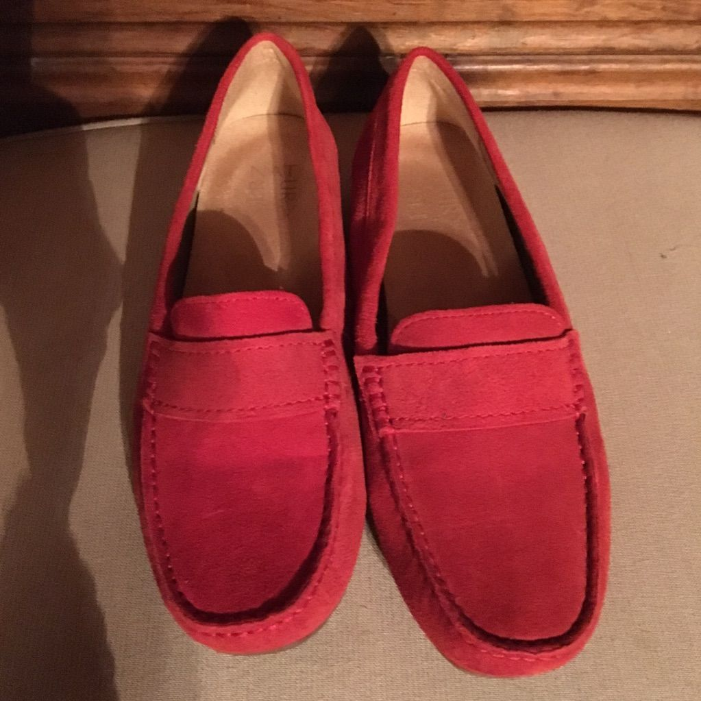 Naturalizer Brynn Red Suede Loafers