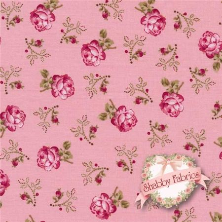 "Rosemont Gazebo 02282-01 Roxanna Petal By E. Vive For Benartex: Rosemont Gazebo is a collection by E. Vive for Benartex.  100% cotton.  43/44"" wide.  This fabric features small pink roses tossed on a pink background."