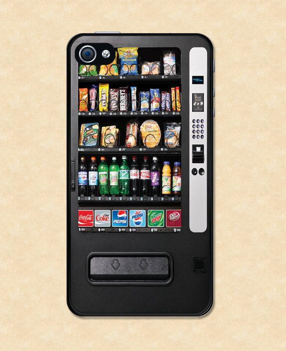 Iphone case Snack Vending Machine Iphone 4 case cool awesome Iphone 4s case  on Etsy 5ab308ff248