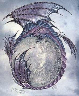 Moon Dragon I by Amy Brown