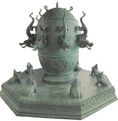 Chinese seismograph | Ancient china, Earthquake, Chinese inventors