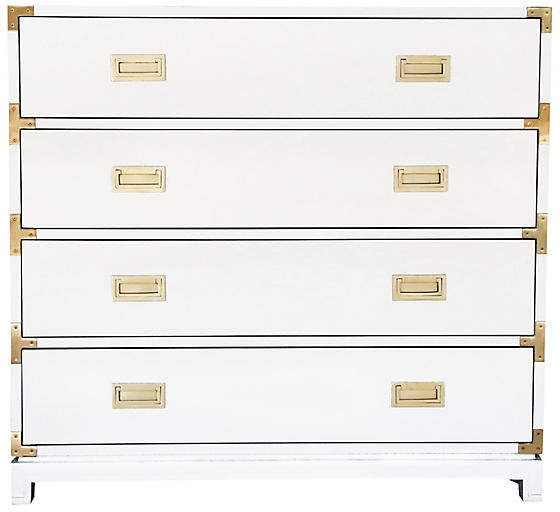 Carlyle 4 Drawer Campaign Dresser White Campaign Dresser Dresser Dresser Inspiration