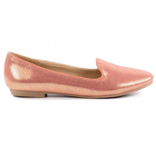 Metallic loafers - roze