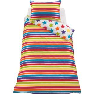 Buy Colour Match Kids Star And Stripe Duvet Set Single