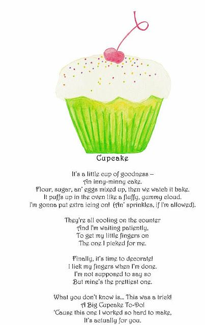 Poems About Baking Cakes