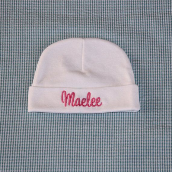 73d087e16 Personalized Baby Beanie - Hat - Embroidered - Baby Cap - Custom ...