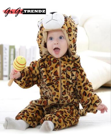 fb1ad6e1d6e Leopard Baby Romper