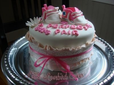 twin baby girls By little_lovebird on CakeCentral.com