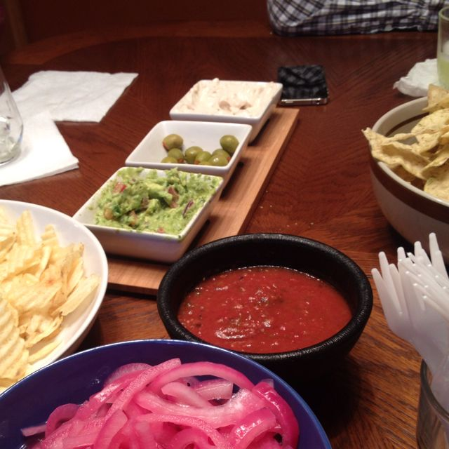 Super Bowl Sunday chips and dip