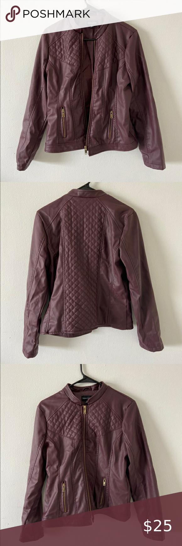 New Look Faux Leather Jacket Leather Jacket New Look Jackets Faux Leather Jackets [ 1740 x 580 Pixel ]