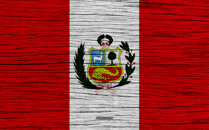 Download Wallpapers Flag Of Peru 4k South America Wooden Texture
