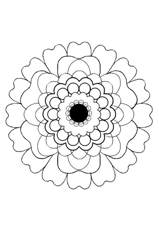 Dibujo para colorear flor | PINTANDO MANDALAS | Pinterest | Colorear ...