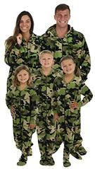 54b46e3ec499 SleepytimePjs Family Matching Camo Onesie PJs Footed Pajamas
