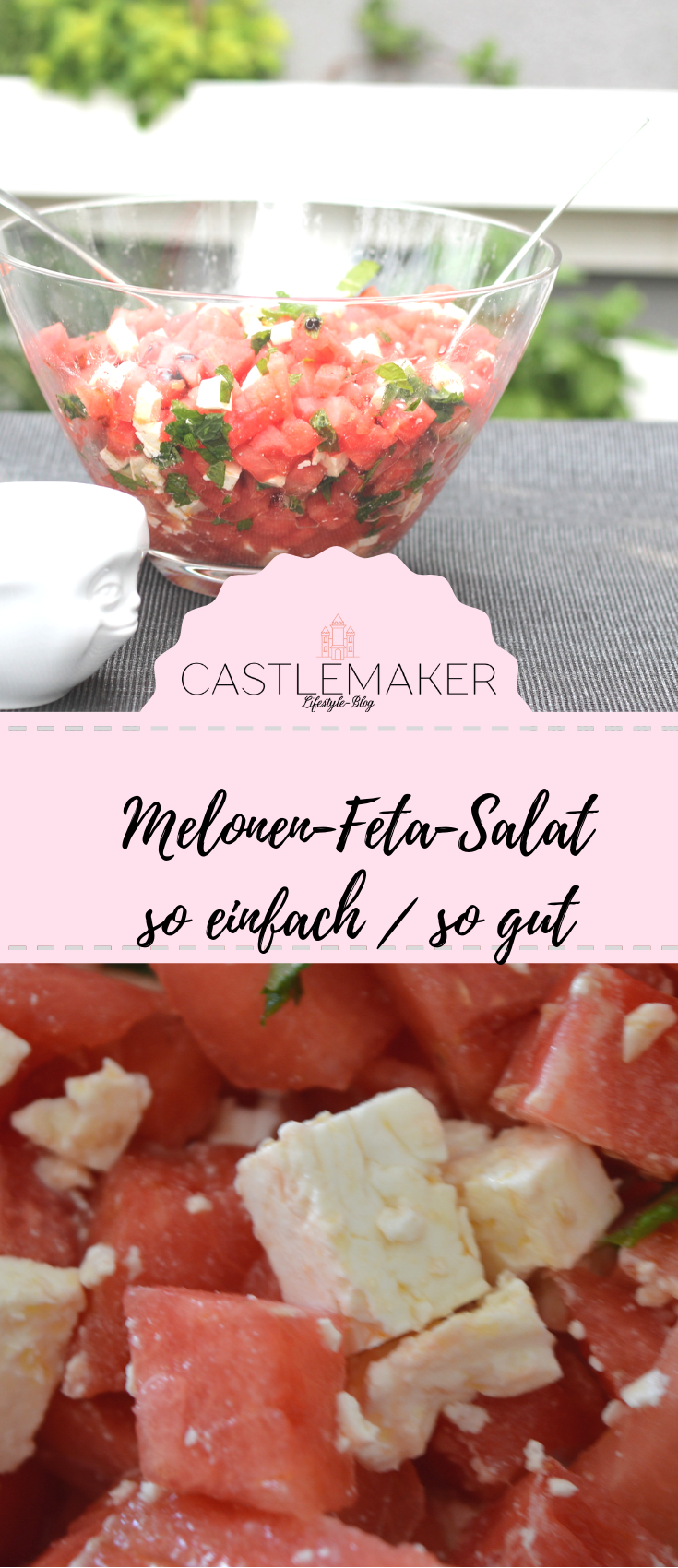 Photo of Melon and feta salad with mint – the refreshing party salad as a summer hit «CASTLEMAKER Lifestyle Blog