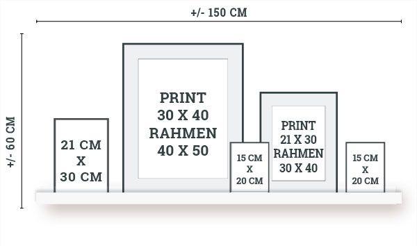Wie plane ich eine Wandcollage? Hier findest Du Hilfe!
