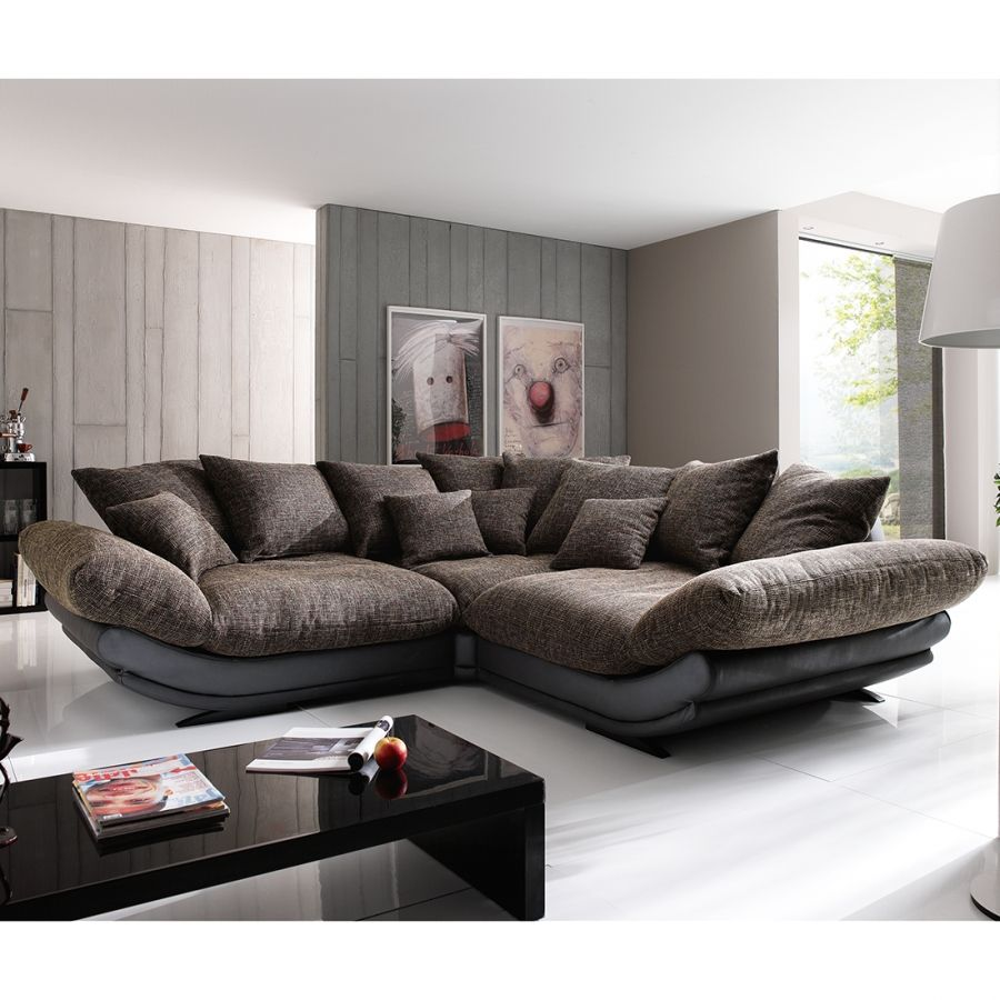 ecksofa tender ecksofa kunstleder und braun. Black Bedroom Furniture Sets. Home Design Ideas
