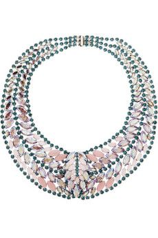 Elizabeth Cole Crystal necklace | THE OUTNET