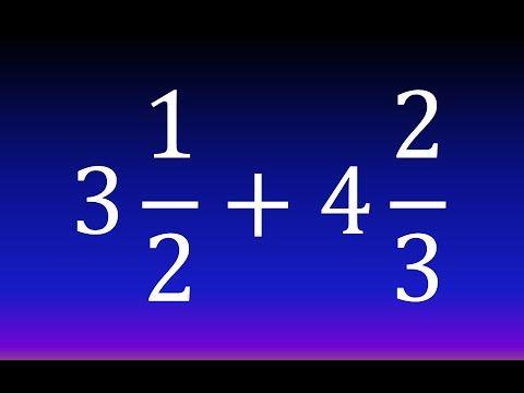 SUMA Y RESTA CON NÚMEROS MIXTOS - YouTube | álgebra 5 grado ...