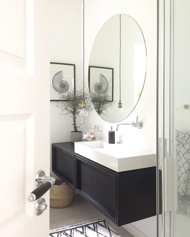 Badliebe Gastebad Badezimmer Gestalten Runde Badezimmerspiegel Badezimmer Mobel