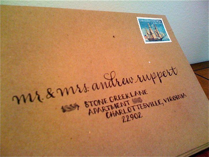 Diy Addressing Wedding Invitations: Limefish Studio: Simply Handwritten: DIY Wedding Invitations And Envelope Etiquette