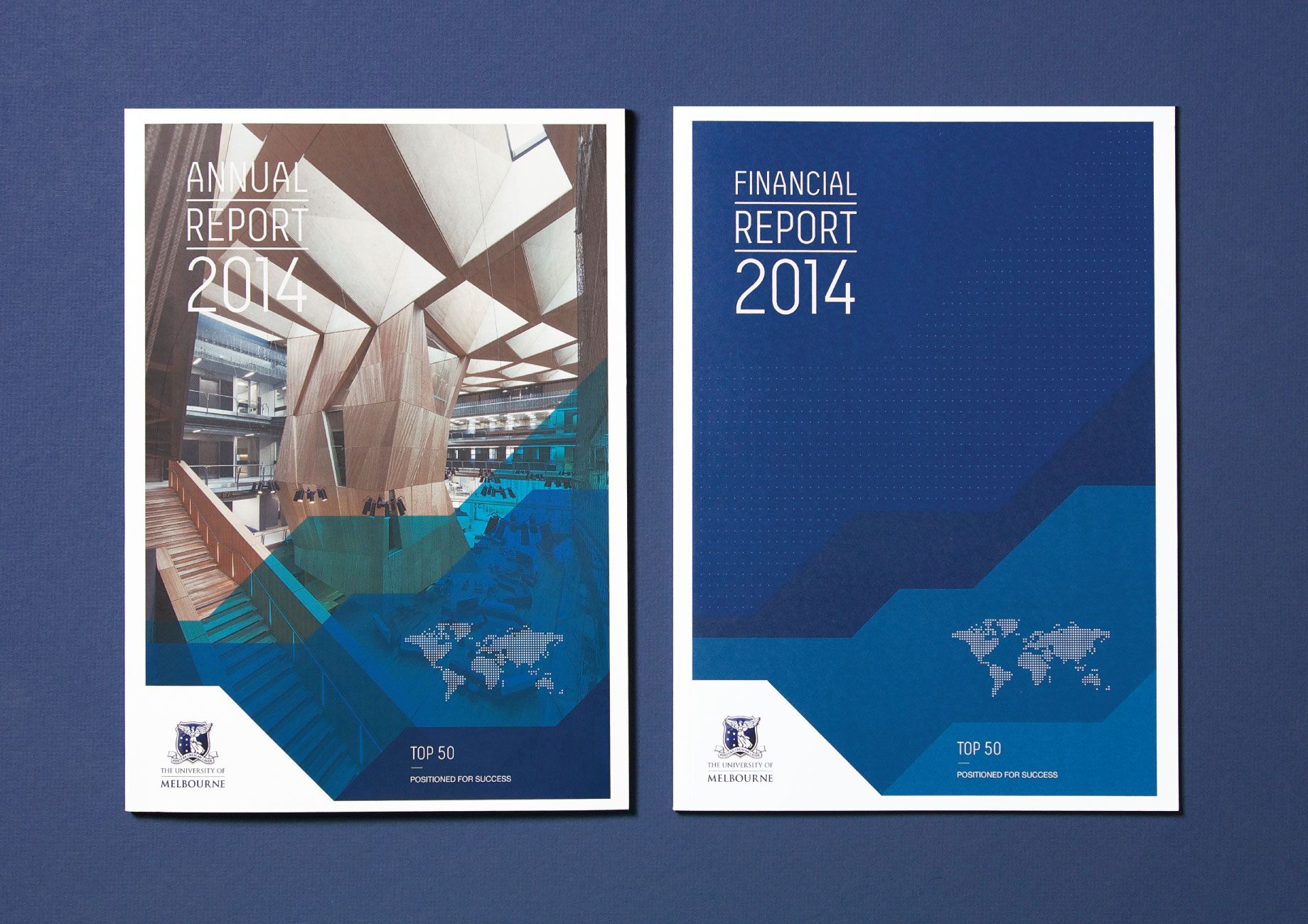 this annual report makes great use of color and geometry for a clean