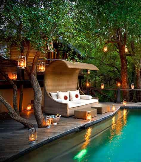 Luxury Pool House: River House- A Luxurious Tree House In South Africa