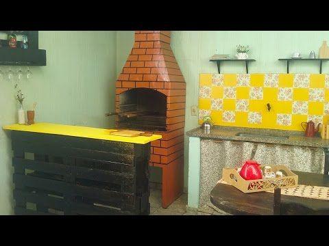 DIY - Balcão feito com pallets - Transformando pallets em móveis #1 - Casinha Arrumada